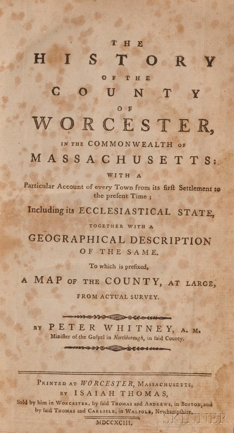 (History, Massachusetts)