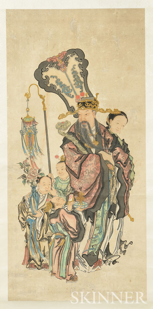 Hanging Scroll Depicting an Official