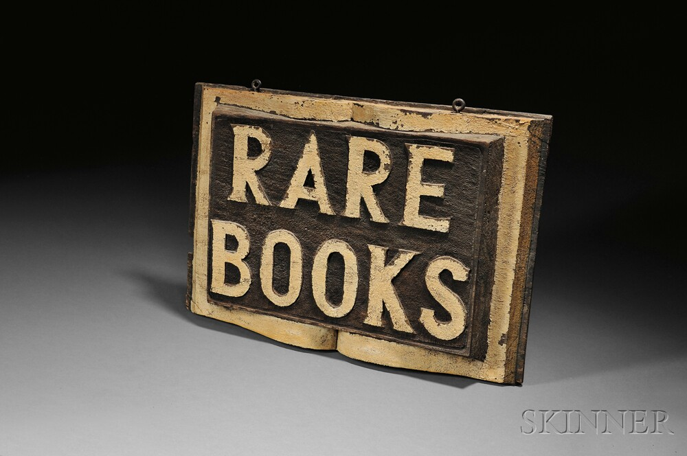 Rare Books Sign.