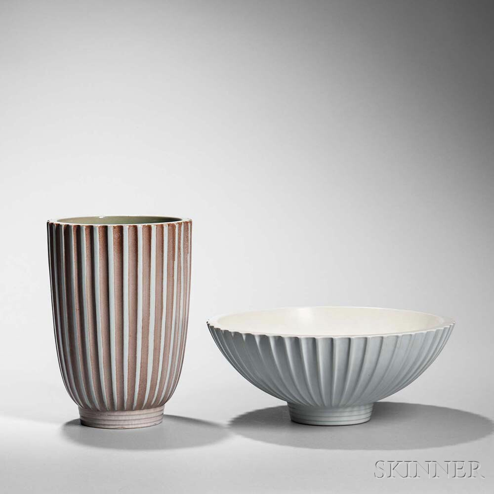Two Wedgwood Norman Wilson Design Items