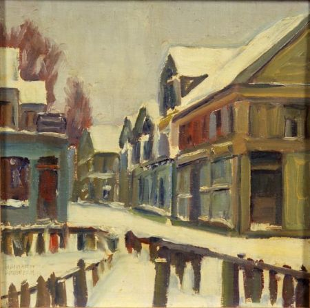 Heinrich Pfeiffer (American, 1874-1960)    Provincetown in Winter