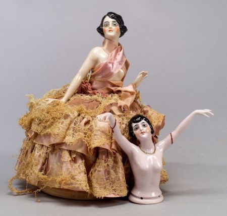 Two Nude China Half Dolls