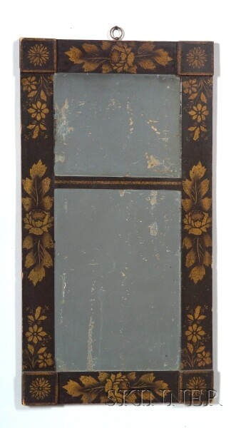 Classical Stencil Decorated Mirror