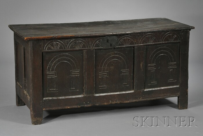 Continental Chip-carved Blanket Chest