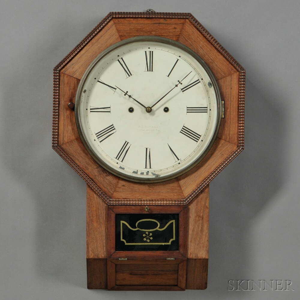 Atkins Clock Co. Thirty-day Fusee Wall Timepiece
