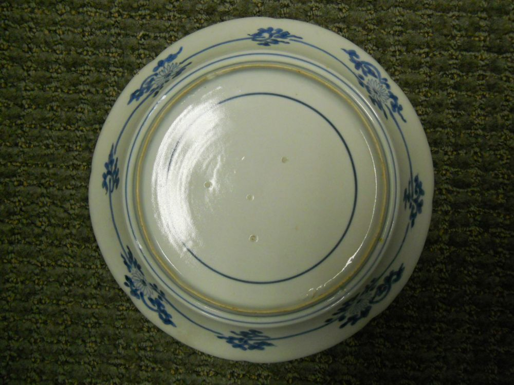 Three Blue and White Arita Dishes