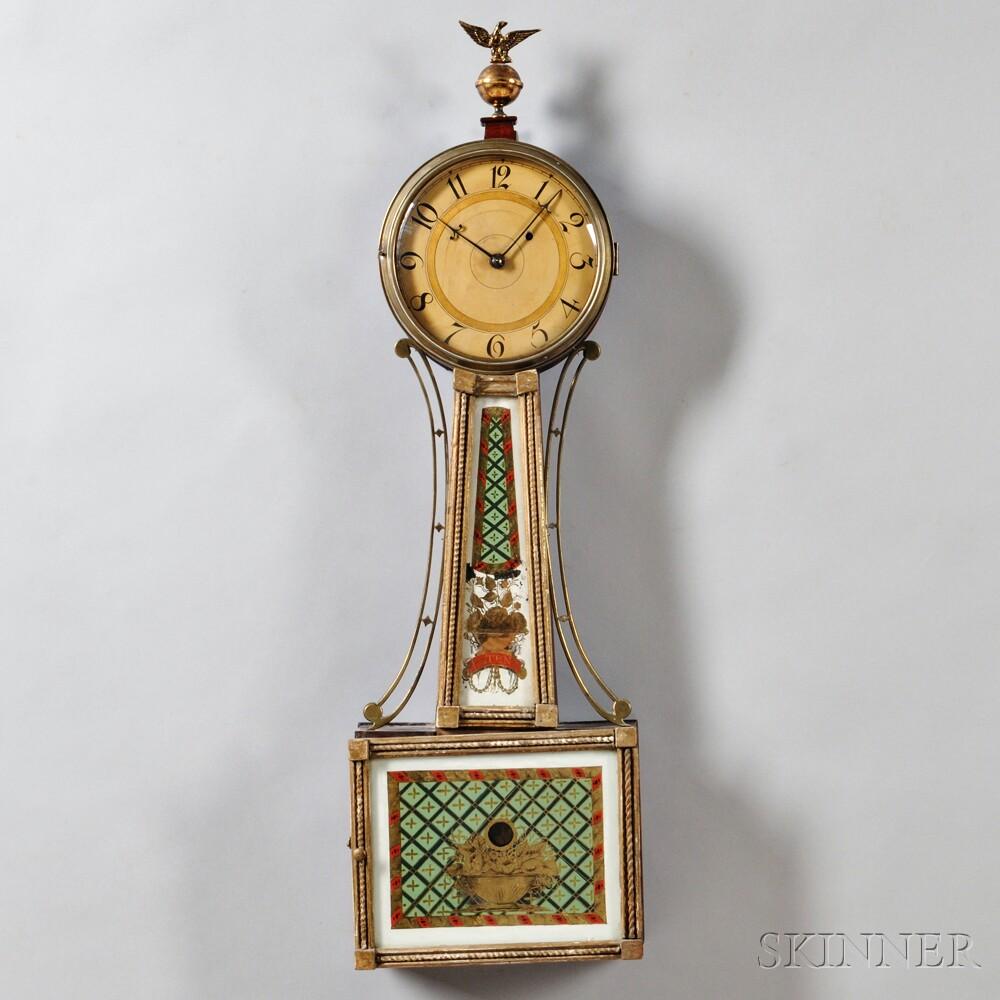 "Mahogany Gilt Front Patent Timepiece or ""Banjo"" Clock"