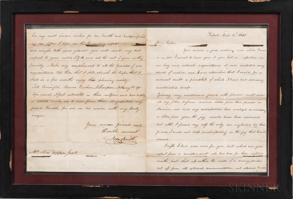 Manuscript Letter from Joseph Smith to Benjamin Hoppin While Imprisoned in Tripoli