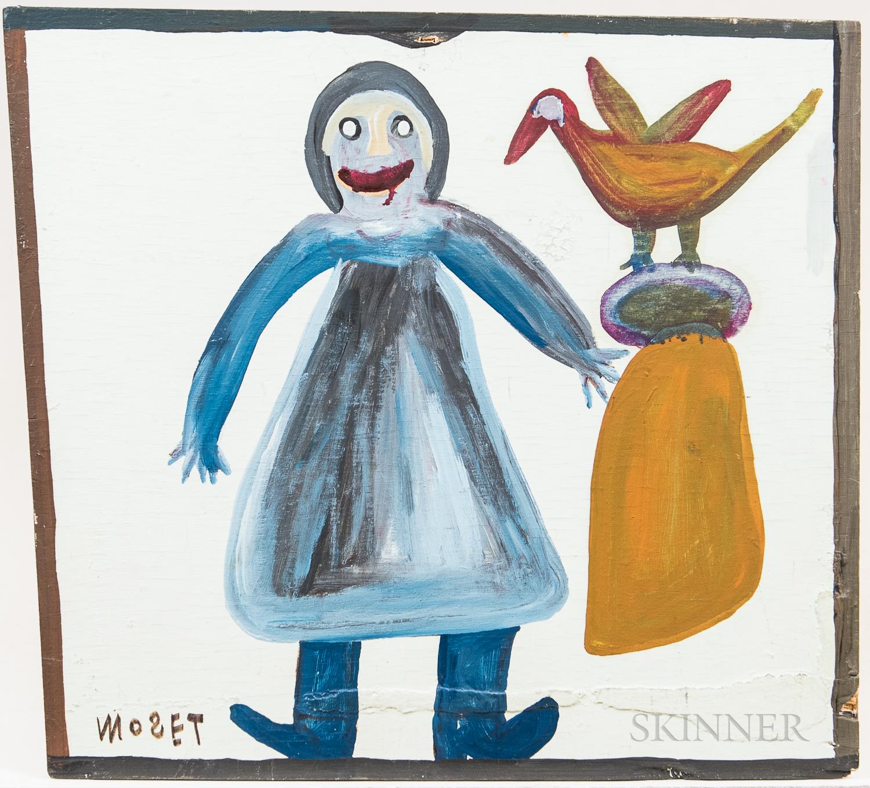 Moses Tolliver (American, 1925-2006)      Three Works: Quail Horse ,  Pear-toe Suzie