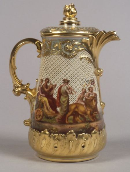 Vienna Porcelain Chocolate Pot and Cover