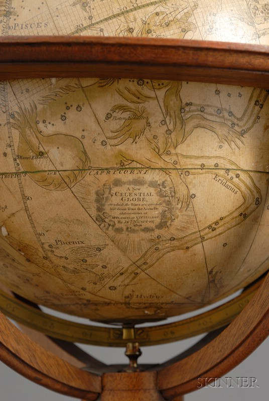 Pair of 12-inch Regency Library Globes by Newton