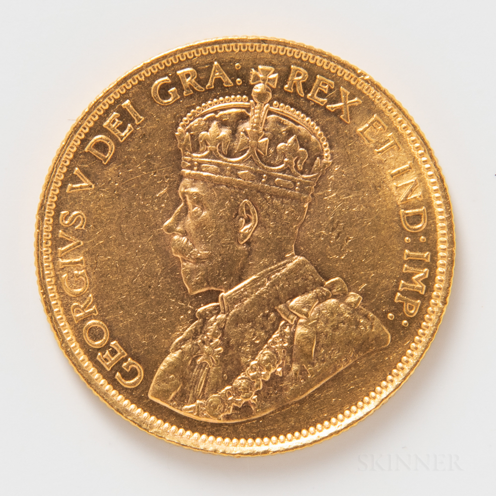 1912 Canadian $10 Gold Coin.     Estimate $600-800