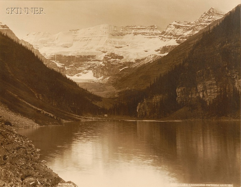 William Notman (Canadian, 1826-1891)      Lake Louise and Victoria Glacier.