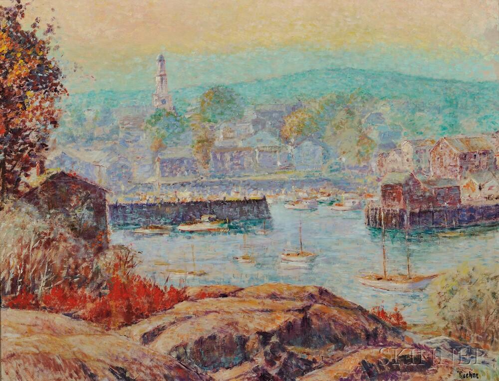 Max Kuehne (American, 1880-1968)      Rockport Harbor