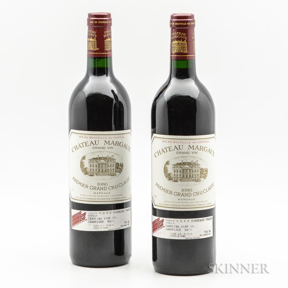 Chateau Margaux 1986, 2 bottles