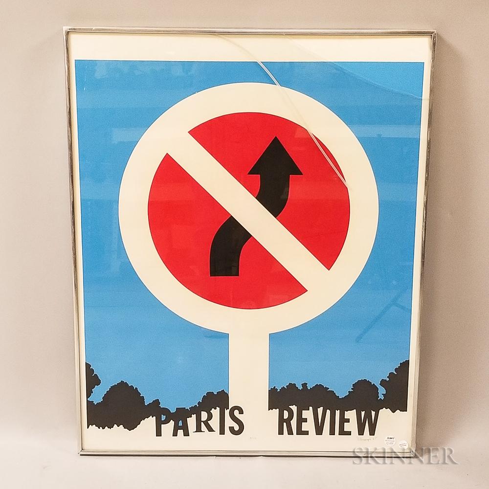 Allan D'Arcangelo Paris Review   Serigraph