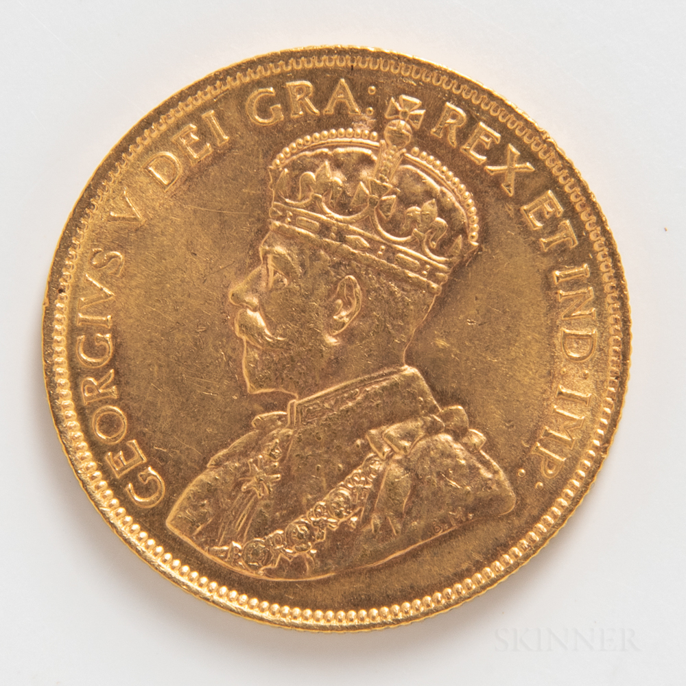 1914 Canadian $10 Gold Coin.     Estimate $600-800