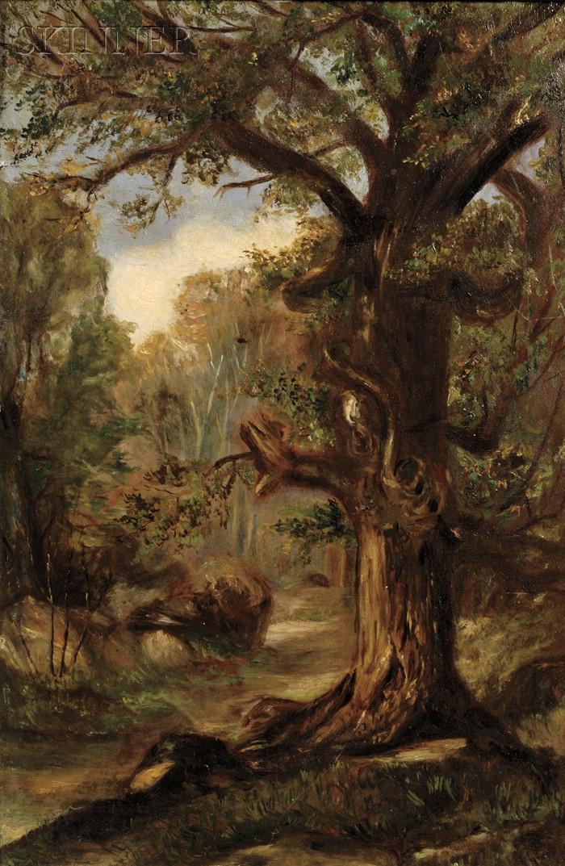 Edward Mitchell Bannister (American, 1828-1901)      Forest Interior