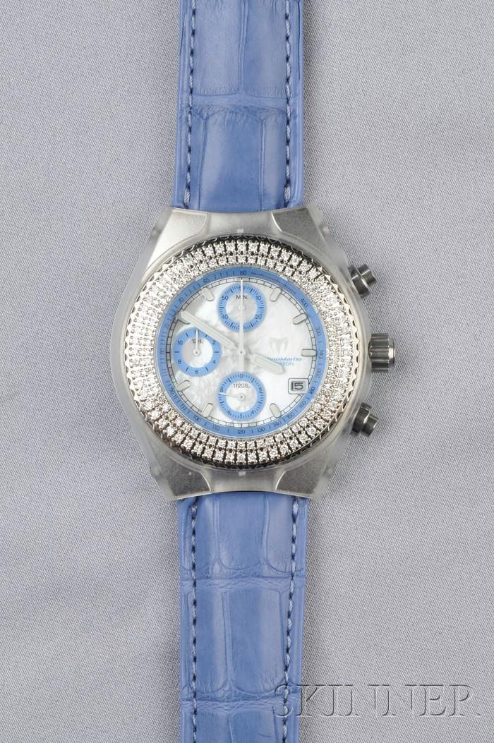 Stainless Steel and Diamond Wristwatch, Technomarine