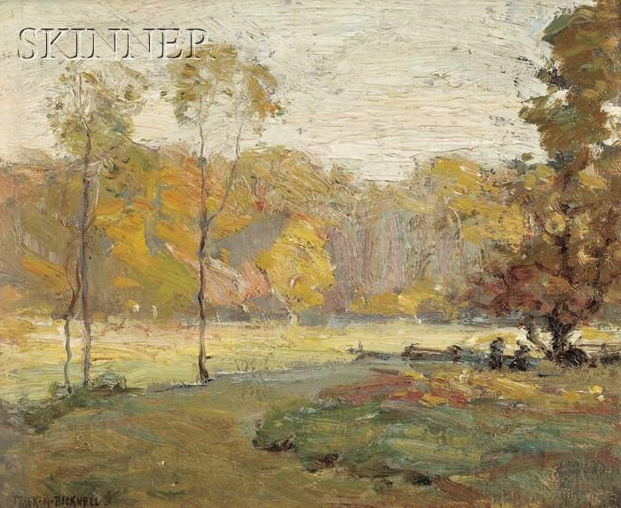 Frank Alfred Bicknell (American, 1866-1943)      Toward Evening (Octobre)