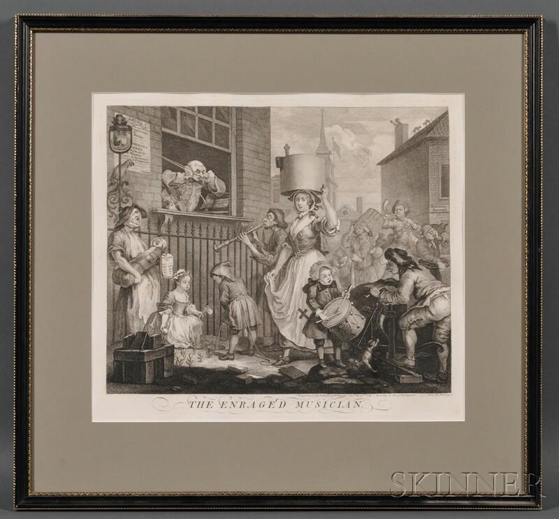 William Hogarth (British, 1697-1764)      The Enraged Musician