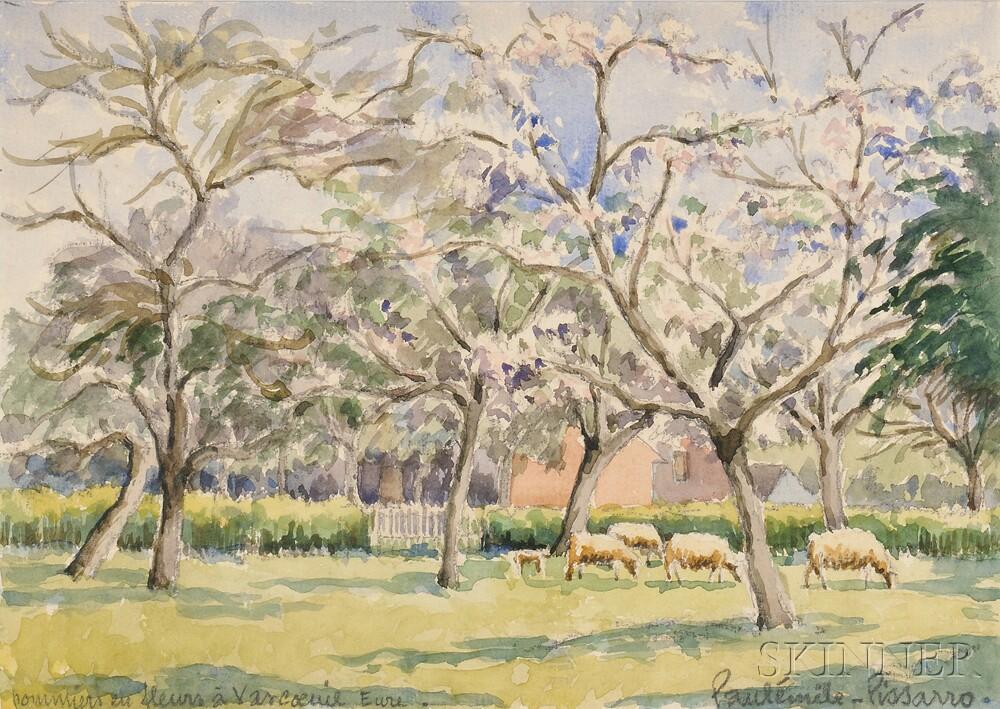 Paul Emile Pissarro (French, 1884-1972)      Pommiers en Fleurs à Vascoeuil Eure