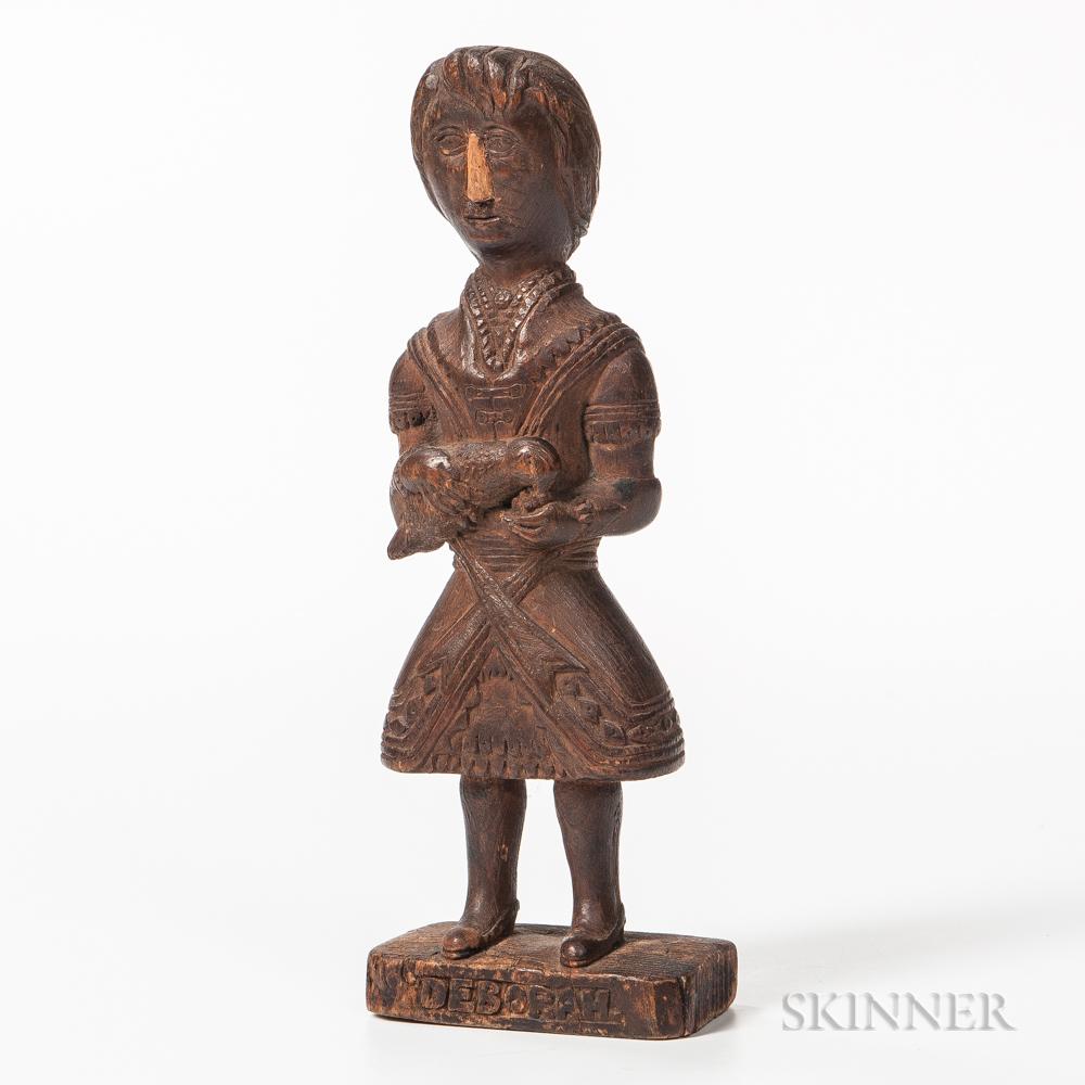 """Carved """"Debborah"""" Figure"""