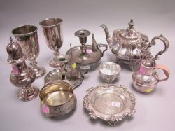Ten Pieces of Silver Plated Hollowware and Table Items.