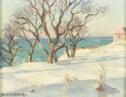 Marguerite Stuber Pearson (American, 1898-1978)  Ice Covered Snow, Rockport