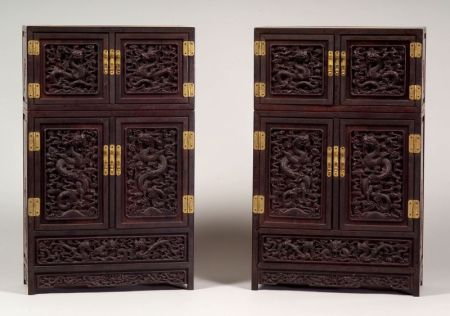 Sold for: $45,825 - Pair of Collector's Cabinets ... - Asian Furniture Skinner Auctioneers