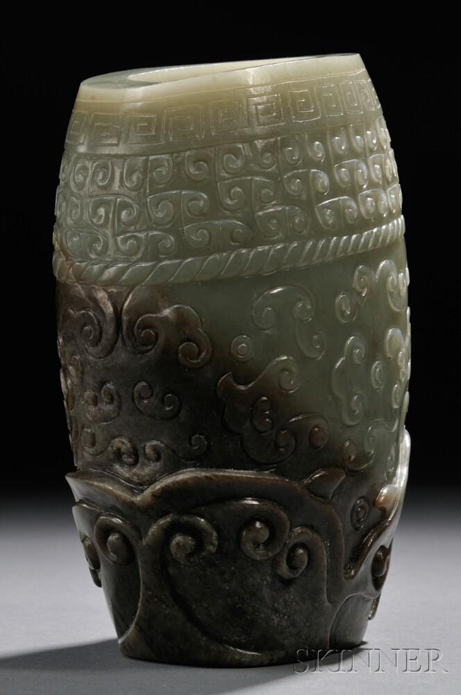 Archaic-style Jade Vase