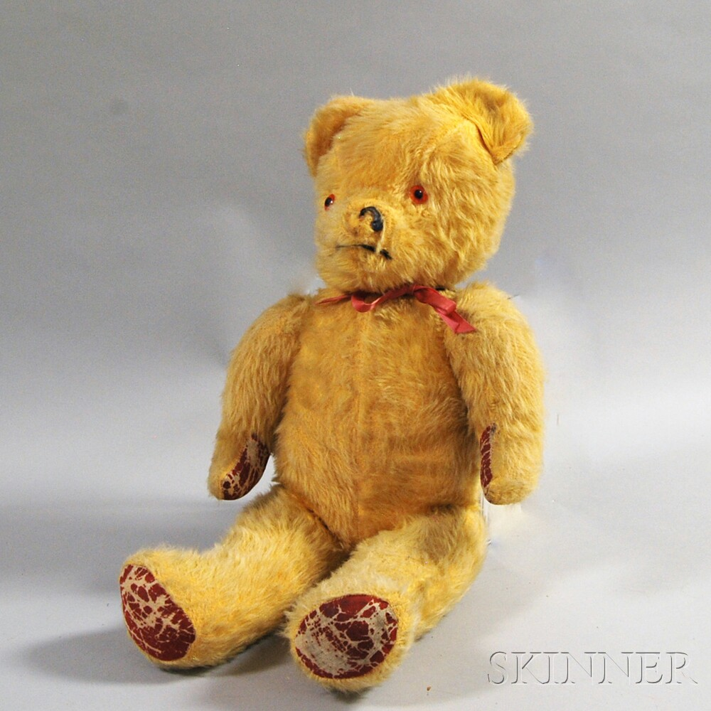 Large Golden Mohair Teddy Bear