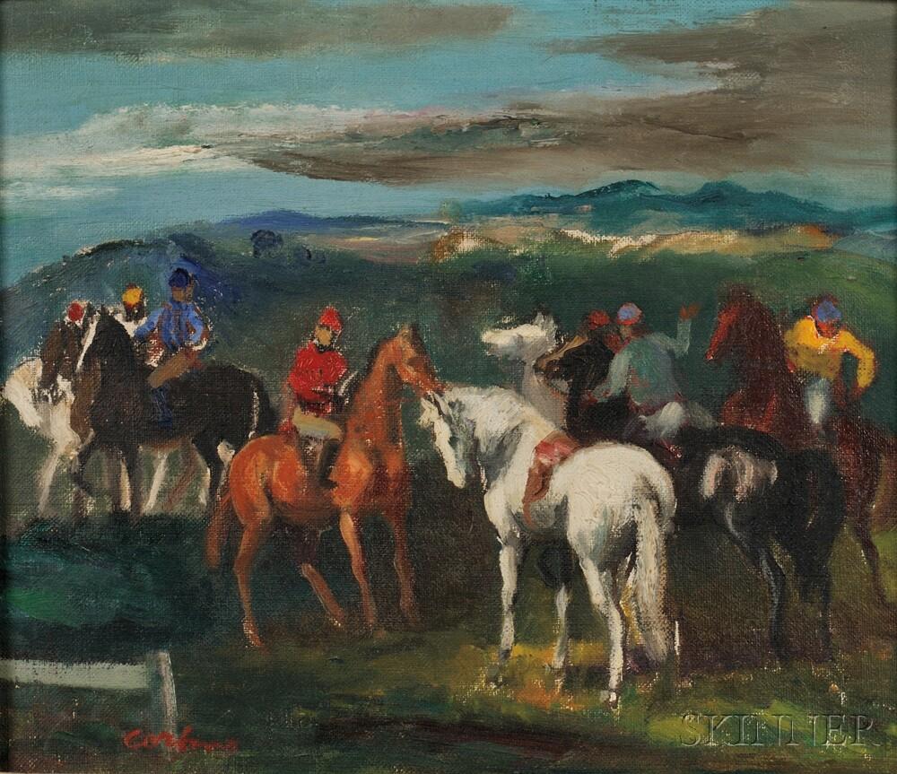 Jon Corbino (American, 1905-1964)      Jockeys and Mounts