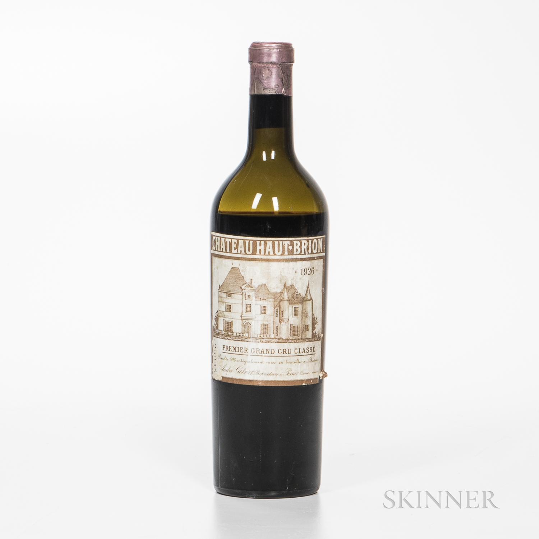 Chateau Haut Brion 1926, 1 bottle