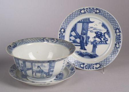 Three Pieces of Blue and White Porcelain