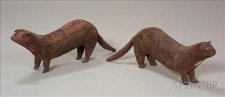 Pair of Mink Furrier's Counter Figures