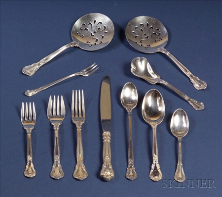 "Gorham Sterling ""Chantilly"" Pattern Flatware Service"