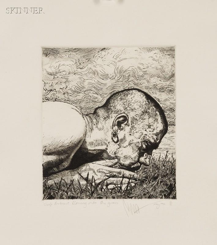 Philip Harris (British, b. 1965)      Lot of Two Self Portraits: Self Portrait