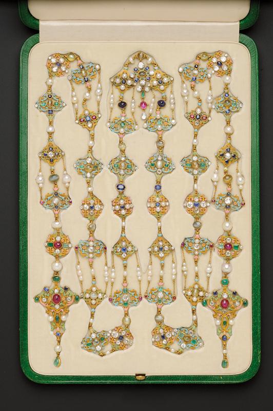 Renaissance Revival Enamel and Gem-set Longchain, Tiffany & Co.