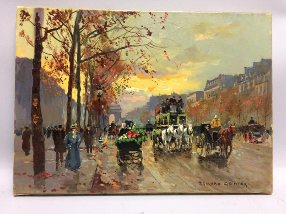 Edouard Léon Cortès (French, 1882-1969)      L'Avenue des Champs-Élysées au Crépuscule