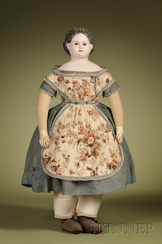 Papier-mache Doll with Open Mouth
