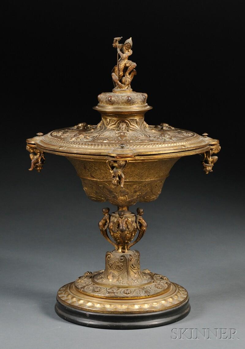 Renaissance-style Gilt-bronze Covered Chalice