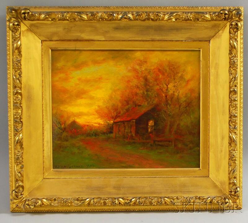 Dubois Fenelon Hasbrouck (American, 1860-1934)      Afterglow Along a Path
