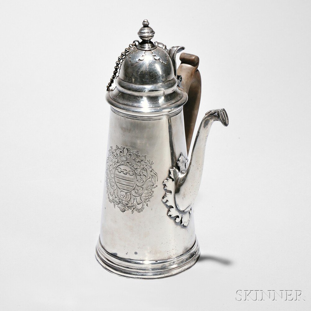 Queen Anne Sterling Silver Chocolate Pot