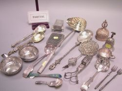 Forty-one Pieces of Sterling and Plated Flatware, Tableware and Miscellaneous Items.