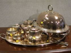 Nine Pieces of Silver Plated Tableware