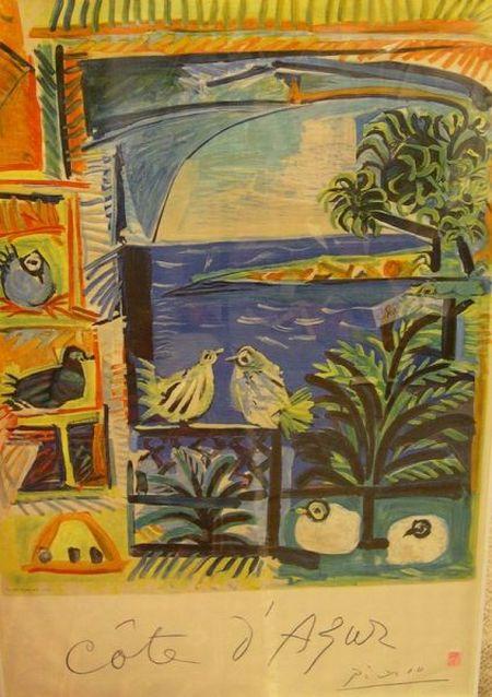 Pablo Picasso Lithograph Cote d'Azur   Travel Poster