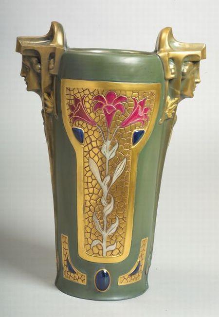 Jugendstil Earthenware Vase