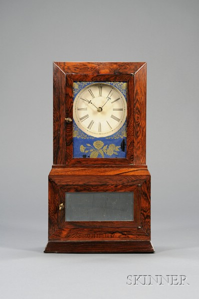 """Rosewood """"Parlor No. 2"""" Variant Shelf Clock probably by Atkins, Whiting & Company"""