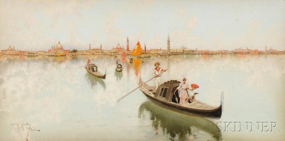 Raffaele Mainella (Italian, 1858-1907)      Venice, Across the Lagoon